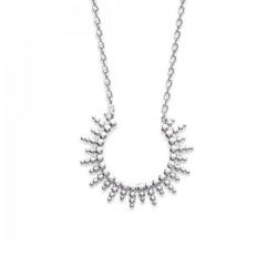 Collier soleil en argent massif 925/000 rhodié bijou tendance