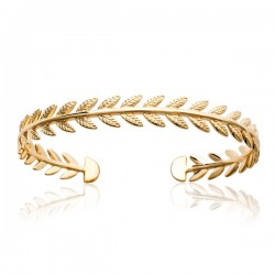 Bracelet jonc épis de blé en plaqué or 18 carats Bijou tendance