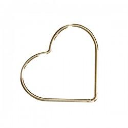 Connecteur coeur en plaqué or 14 carats intercalaire 17,5 mm
