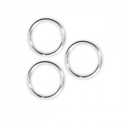 Anneaux ronds fermés 9 mm en Argent 925/000 fil 0,9 mm Lot de 3