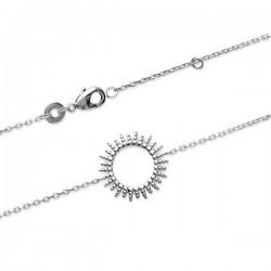 Bracelet soleil en argent massif 925/000 rhodié