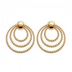 Boucles d'oreilles multi anneaux en plaqué or 18 carats