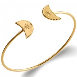 Bracelet jonc Plaqué Or 18 carats Design moderne