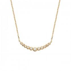 Collier Plaqué Or 18 carats et zirconium bijou chic tendance