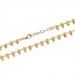 Bracelet pampilles boules en plaqué or 18 carats