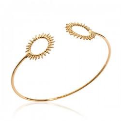 Bracelet jonc soleils Plaqué Or 18 carats Bijou tendance