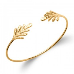 Bracelet jonc en plaqué or 18 carats diamètre 58 mm Bijou tendance