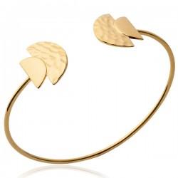 Bracelet jonc ethnique Plaqué Or 18 carats Bijou tendance