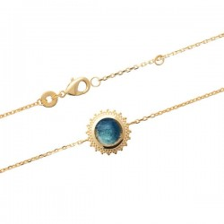 Bracelet pierre labradorite en Plaqué Or 18 carats