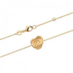 Bracelet feuille exotique en plaqué or 18 carats Bijou nature