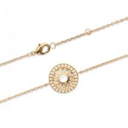 Bracelet soleil Plaqué Or 18 carats et pierre de lune naturelle