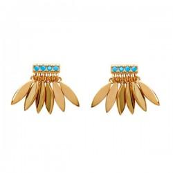 Boucles d'oreilles puces plaqué or 18 carats pendants petites gouttes