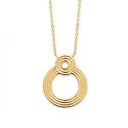 Collier Plaqué Or 18 carats pendentif anneau Bijou tendance