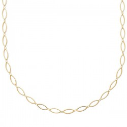 Collier maille ovale en plaqué or 18 carats