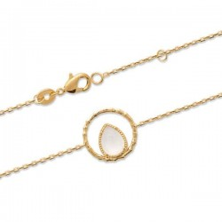 Bracelet Plaqué Or 18 carats pierre naturelle pierre de lune