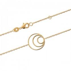 Bracelet Plaqué Or 18 carats cercles anneaux