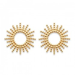 Boucles d'oreilles Plaqué Or 18 carats puces soleil