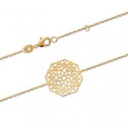 Bracelet Plaqué Or 18 carats motif filigrané