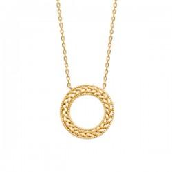 Collier anneau épis de blé en plaqué or 18 carats Bijou tendance
