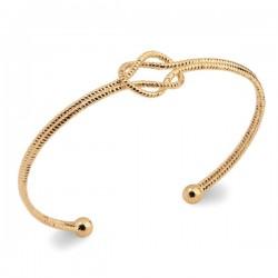 Bracelet jonc nœud Plaqué Or 18 carats Bijou tendance