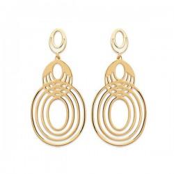 Boucles d'oreilles pendantes filigranées en plaqué or 18 carats