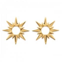 Boucles clous d'oreilles étoiles Plaqué Or 18 carats