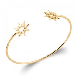 Bracelet jonc étoiles Plaqué Or 18 carats