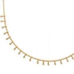 Collier pampilles en plaqué or 18 carats Bijou tendance