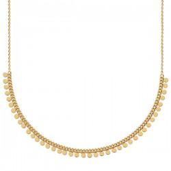 Collier Plaqué Or 18 carats pampilles chainette de réglable