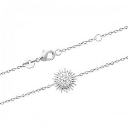 Bracelet soleil argent massif 925/000 et zirconium