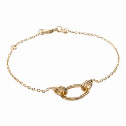 Bracelet anneaux Plaqué Or 18 carats