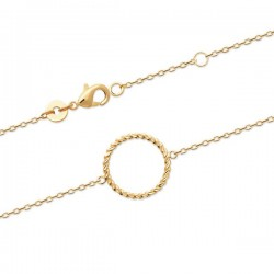 Bracelet Plaqué Or 18 carats cercle tressé