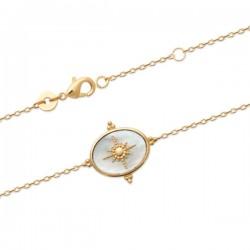Bracelet étoile plaqué or 18 carats et nacre naturelle