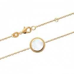 Bracelet Plaqué Or 18 carats et nacre naturelle Bijou nature