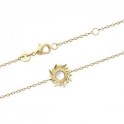 Bracelet couronne d'épis Plaqué Or 18 carats et nacre naturelle