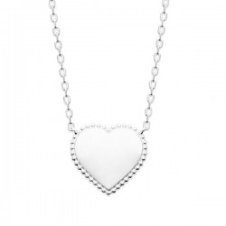 Collier coeur argent massif 925/000