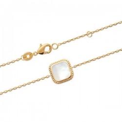 Bracelet Plaqué Or 18 carats pierre nacre naturelle