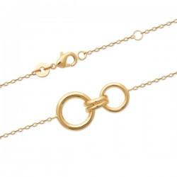 Bracelet Plaqué Or 18 carats 2 anneaux Bijou tendance
