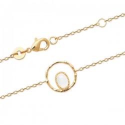 Bracelet Plaqué Or pierre de lune naturelle Bijou nature