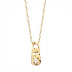 Collier Plaqué Or 18 carats pendentif style chaine Bijou tendance