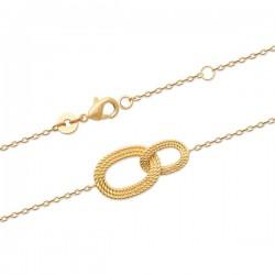 Bracelet Plaqué Or 18 carats anneaux entrelacés Bijou tendance