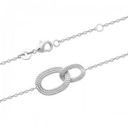 Bracelet argent massif 925/000 anneaux entrelacés