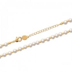 Bracelet Plaqué Or 18 carats perles blanches