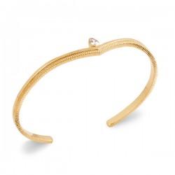 Bracelet jonc Plaqué Or 18 carats goutte zirconium