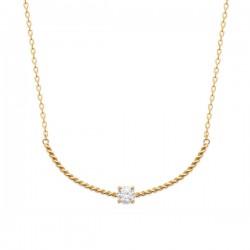 Collier Plaqué Or 18 carats zirconium griffé Bijou tendance