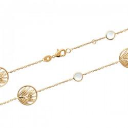 Bracelet épis de blé en plaqué or 18 carats et nacre naturelle