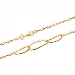 Bracelet Plaqué Or 18 carats 3 anneaux entrelacés Bijou tendance