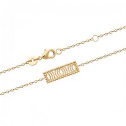 Bracelet Plaqué Or 18 carats motif ajouré Bijou tendance