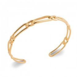 Bracelet jonc Plaqué Or 18 carats tendance maille chaine rigide
