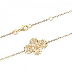 Bracelet Plaqué Or 18 carats spirales filigranées
